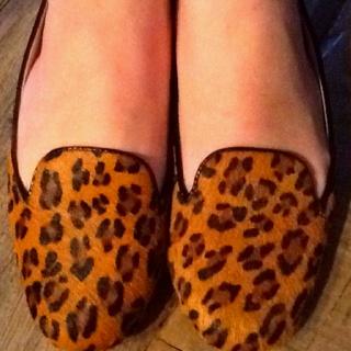 Animal print, foot print (adoro slippers de onça!)