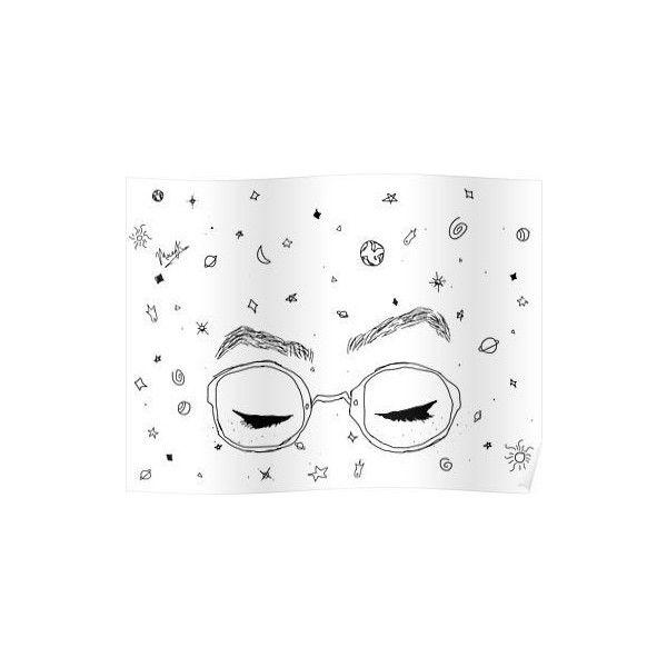 Dodie Clark Freckles and Constellations ❤ liked on Polyvore featuring home, home decor, wall art, interior wall decor, constellation wall art and home wall decor