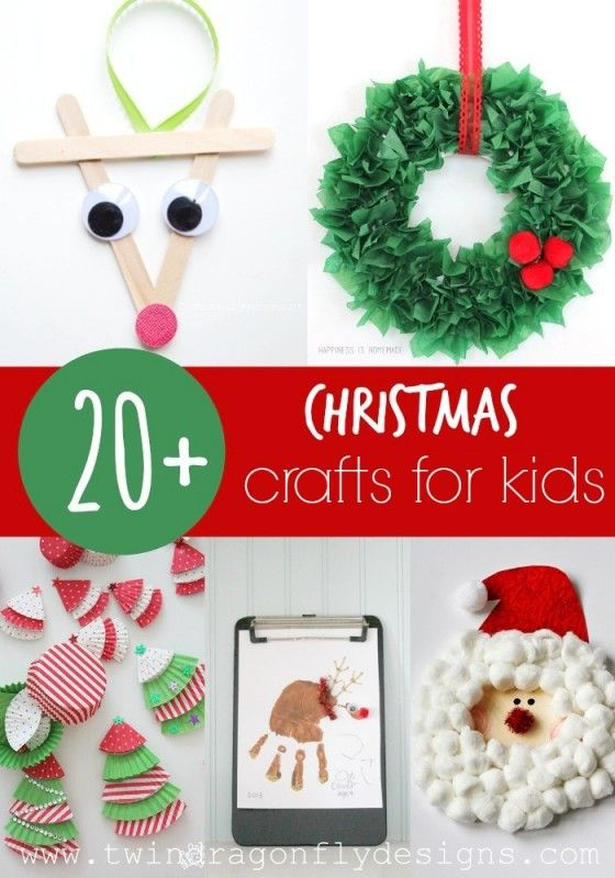 20+ Christmas Crafts for Kids - lots of great ideas!