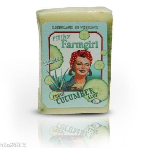Fresh Cucumber Aloe Large Glycerin All Natural Bar Soap with Olive Oil & Soy