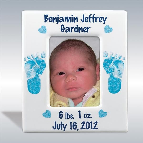 Personalized Footprints Baby Boy Ceramic Picture Frames Foot