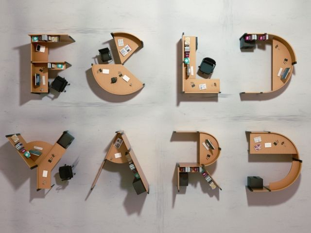 Fold Yard by Benoit Challand Large-scale Typography Turns Into Functional Furniture