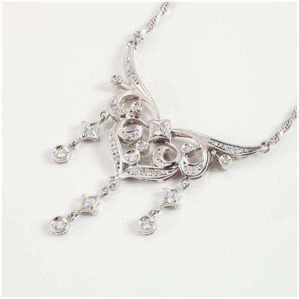 【中古】Pt900 Pt850 ダイヤモンド ネックレス/新品仕上げで高品質な中古ジュエリーを格安で提供いたします。