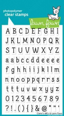 Claire's Abcs Clear Stamp Set (Lawn Fawn)