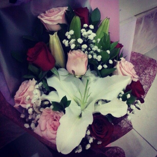 Flowers bouquet from my man!! Thank you so much!! Really like it!!