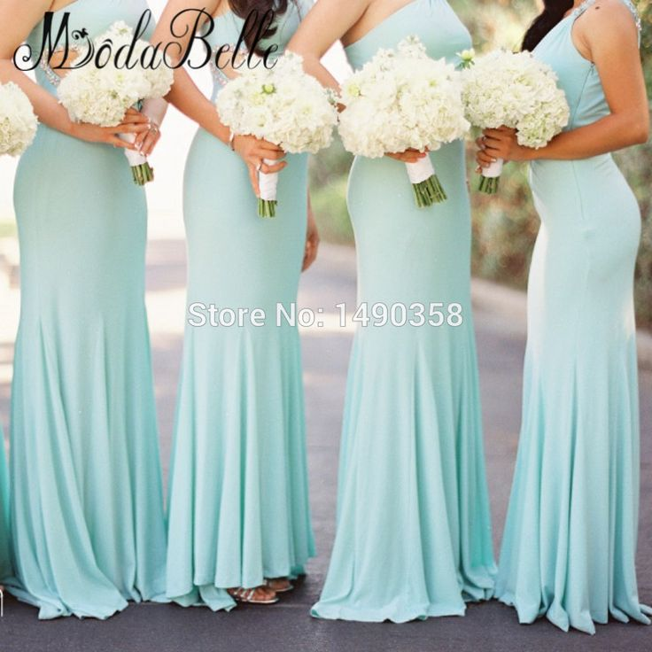 Find More Bridesmaid Dresses Information about 2016 Western Beaded One Shoulder Turquoise Blue Bridesmaid Dress Long Party Dress For Wedding Guests Dama De Honra,High Quality dress right dress,China dresses evening dresses Suppliers, Cheap dress birthday from ModaBelle Store on Aliexpress.com