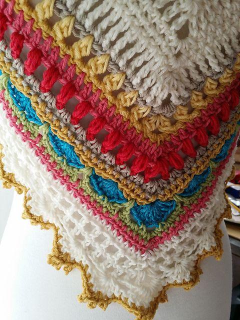 Sunday Shawl - photo credit Romi-damelalata on Ravelry. Pattern on Etsy https://www.etsy.com/nz/listing/196313873/crochet-shawl-pattern-instant-download