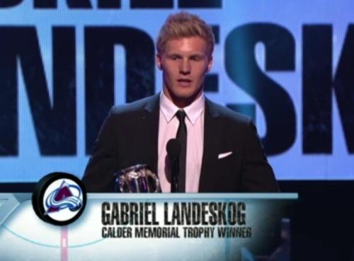 Gabriel Landeskog wins Calder Memorial Trophy