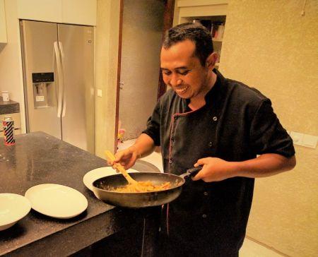 The wizard of VillaTukad Pangi: our Chef Wayan.
