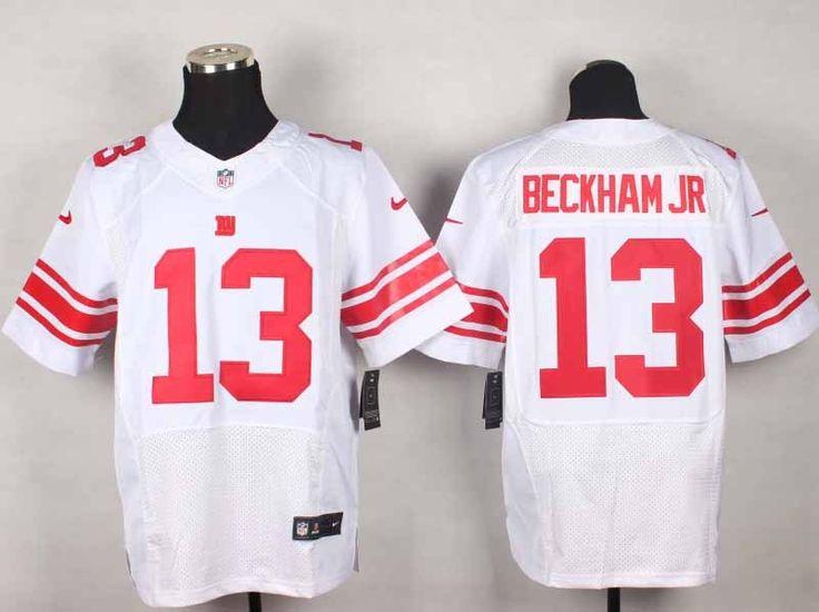 Nike New York Giants 13 Odell Beckham Jr White Elite NFL Jerseys