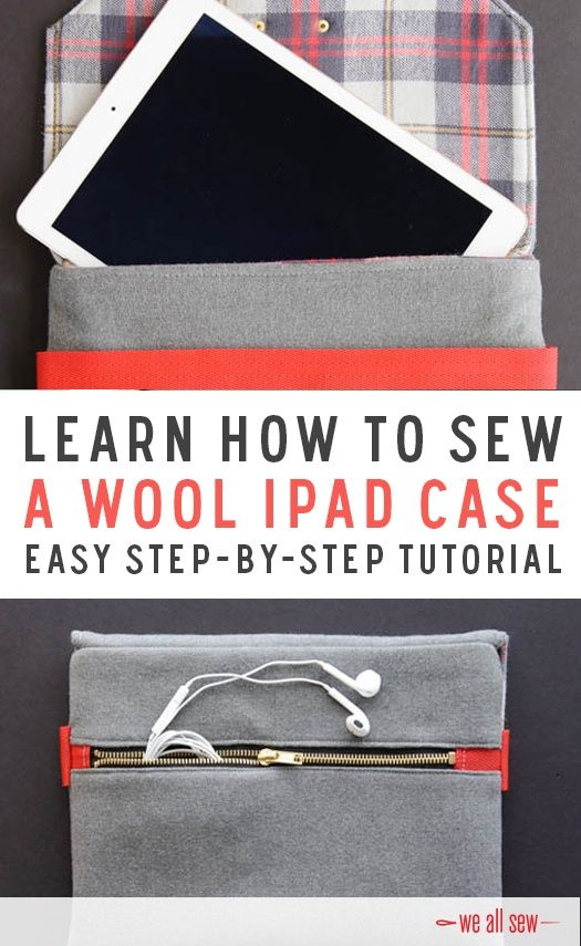 Learn how to sew a Wool iPad Case. Perfect for a handmade gift. Learn more at: http://bit.ly/1ZRF6o6