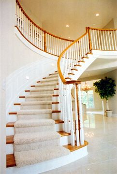 I Want To Redo Our Stairs With Carpet Running Up The