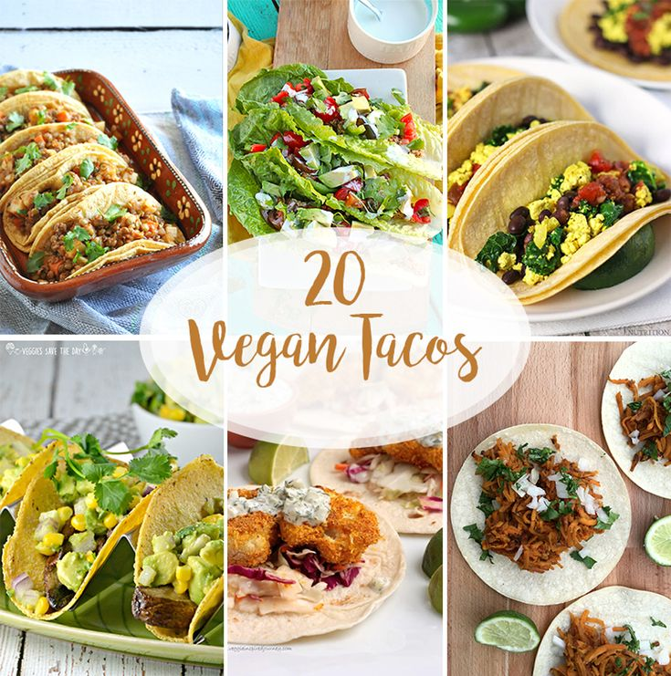 A round-up of 20 Vegan Taco Recipes. Everyone loves a good taco. Whether it's for Taco Tuesday or Cinco de Mayo, check out these delicious taco recipes.