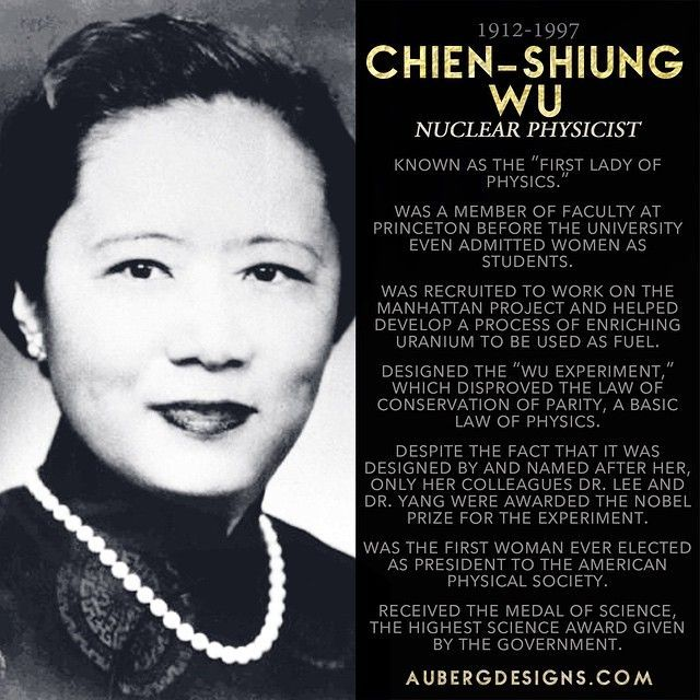 The life and works of chien shiung wu