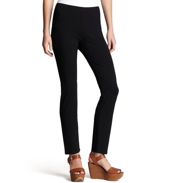 Eileen Fisher Petites System Ankle Leggings (£80) ❤ liked on Polyvore featuring pants, leggings, black, petite, petite leggings, petite pants, petite trousers, eileen fisher and eileen fisher pants