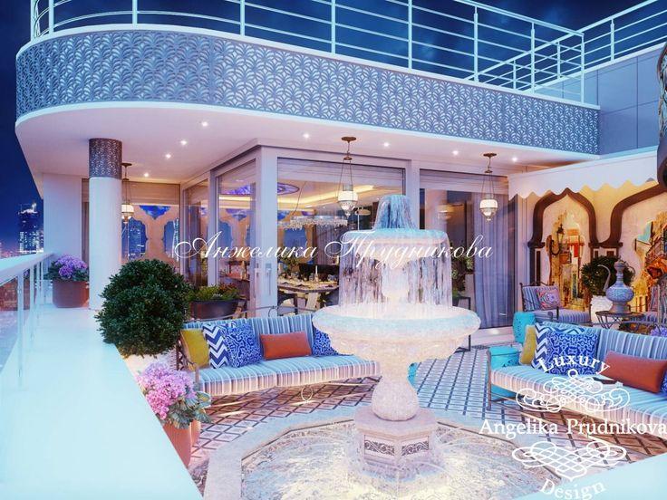 Дизайн интерьера террасы пентхауса в Москве - фото