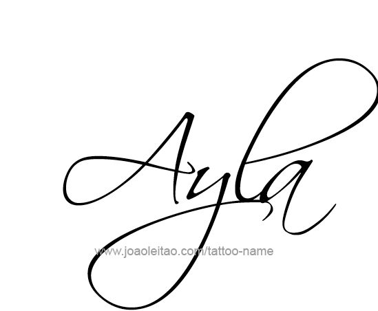 ayla name tattoo designs