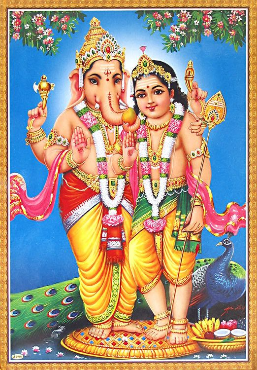 Ganesha and Kartikeya