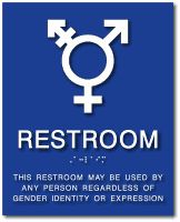 Gender Neutral Bathroom Sign with Braille and Gender Neutral Symbol from ADA Sign Depot