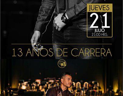 """Check out new work on my @Behance portfolio: """"Mockup Evento 13 años de carrera de Jano el Cantante""""…"""