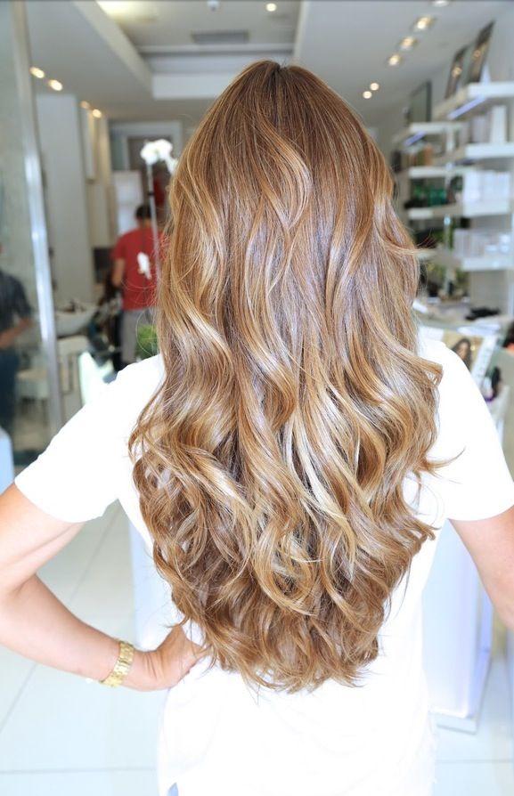 Caramelo lindo color de cabello
