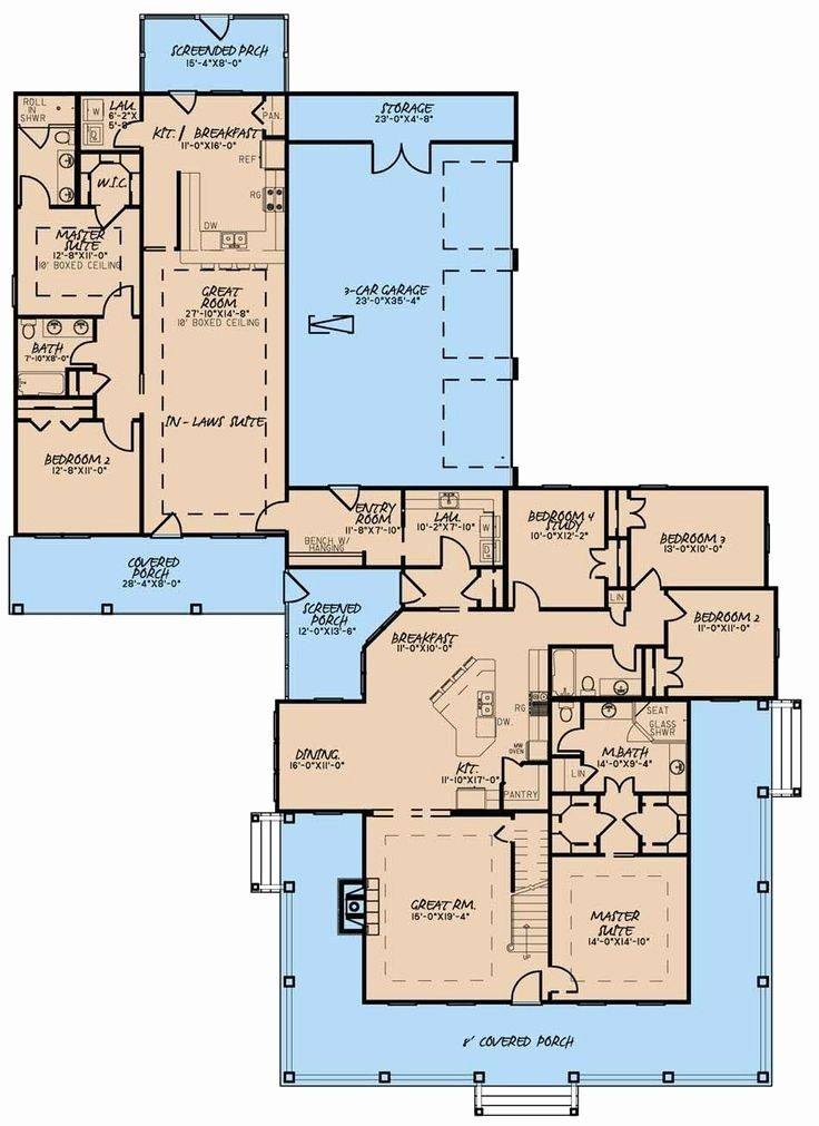 Image Result For Detached Mother In Law Suite House Plans Farmhouse Style House Plans House Plans One Story Family House Plans