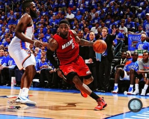 LeBron James Game 1 of the 2012 NBA Finals Action Photo Print (20 x 24)