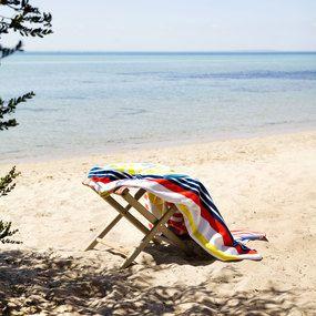 Deluxe Cotton Velour Beach Towel - Monte Carlo