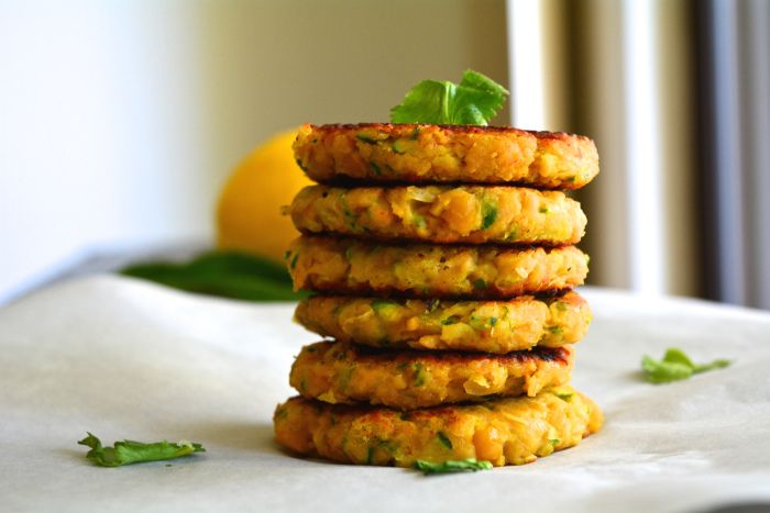 Zucchini Chickpea Fritters | Yes, I am Vegan :)