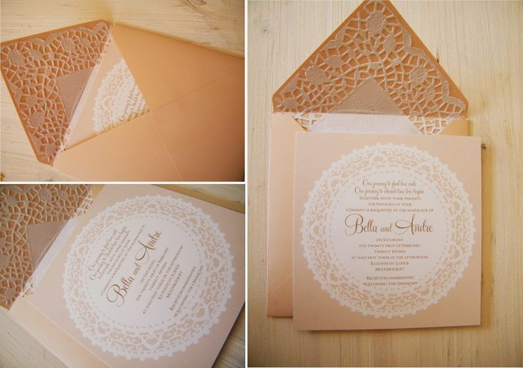 Neutral Vintage Wedding Invitation | Trendy Settings Blog