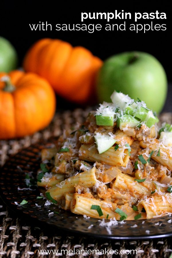 Pumpkin Sausage with Pasta and Apples - Savory Pumpkin Recipes (Almost) Too Pretty to Eat