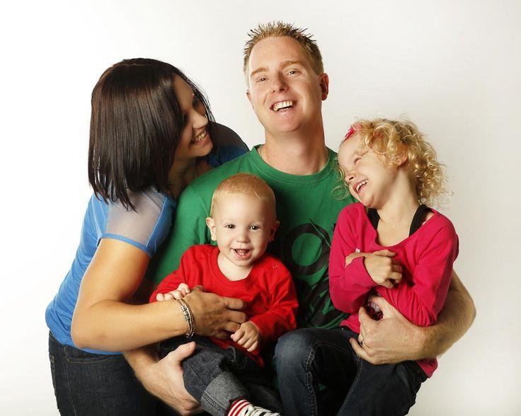 Happy studio family portrait photography Perth