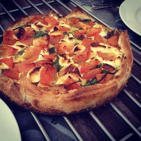 Recept voor een makkelijke quiche met geitenkaas en spinazie