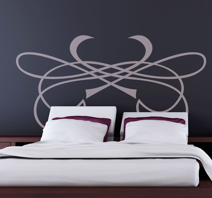An ornamental wall sticker designed especially to be placed above the headboard of your bed in