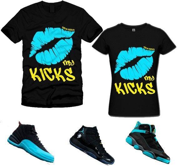 d53acaf4d89e These Mens KISS MY KICKS LIPS crew neck t-shirt match Air Jordan 11 5 6 ...