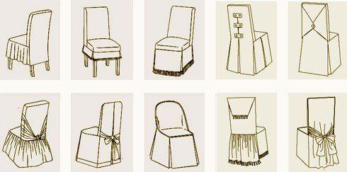 Чехлы на стулья своими руками: как сшить, выкройки универсальные