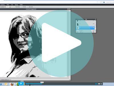 Her kan du lære hvordan du i programmet pixlr kan lave en tre farvet stencil til optegning på dit lærred.