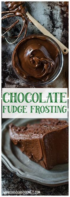 This Dark Chocolate Fudge Frosting is so rich, it will make the best chocolate cake ever!  via @gogogogourmet