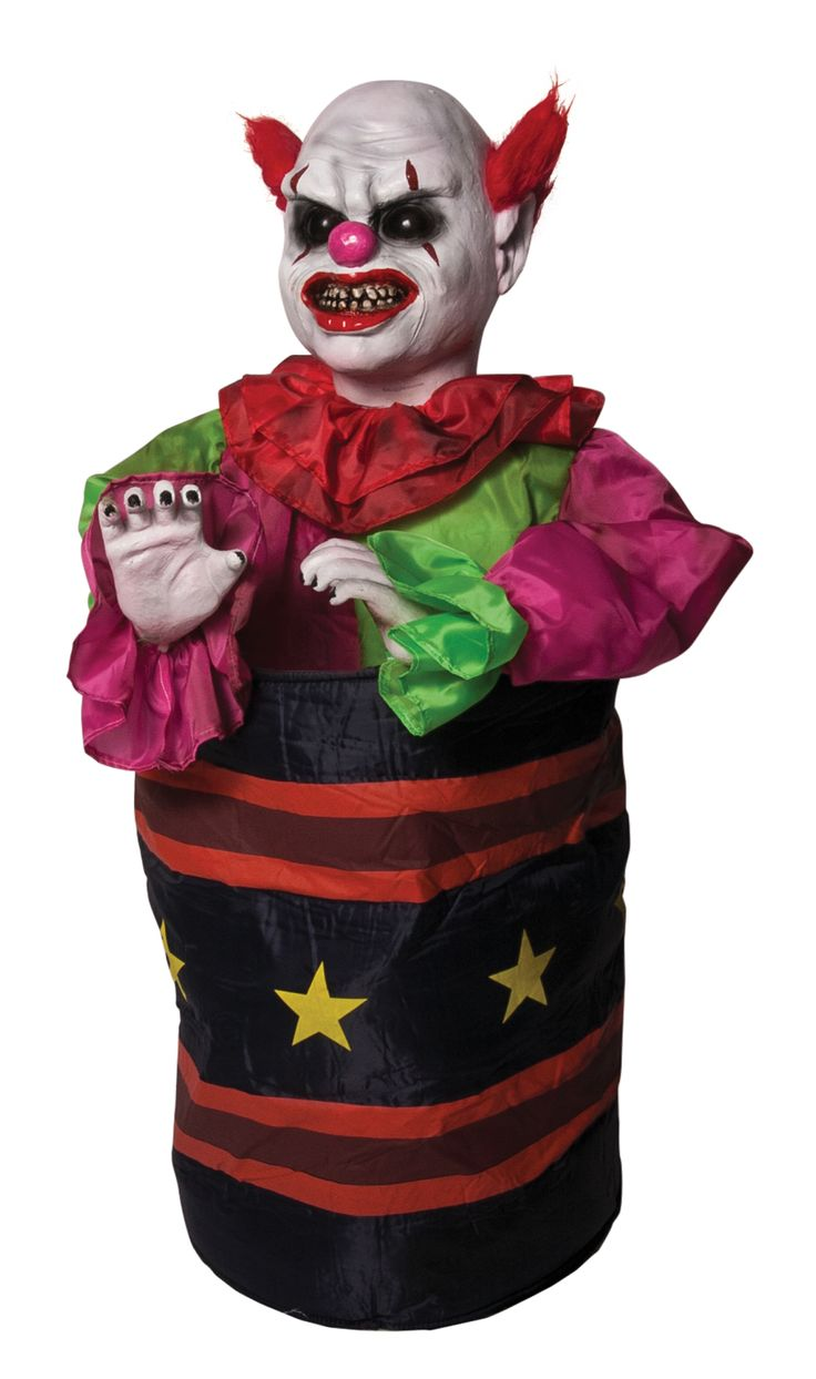 Bump and Go Animated Clown Prop