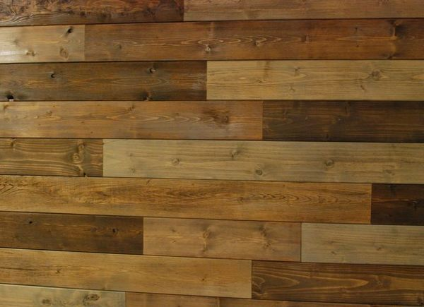 Pallet Wall Made With Evertrue V Groove Panels From