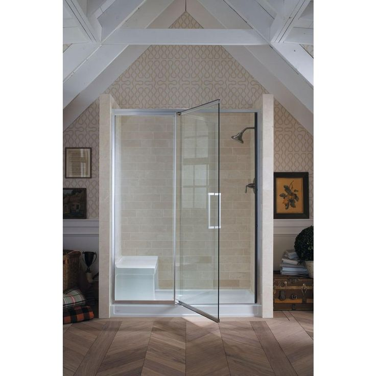 KOHLER Tresham 60 in x 32 in Single Threshold Shower