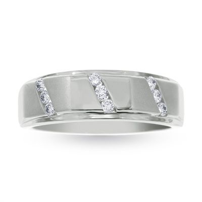 mens 14 ct tw 9 stone diamond wedding band in 10k white gold view all rings zales my dream wedding pinterest weddings wedding and wedding - Zales Mens Wedding Rings