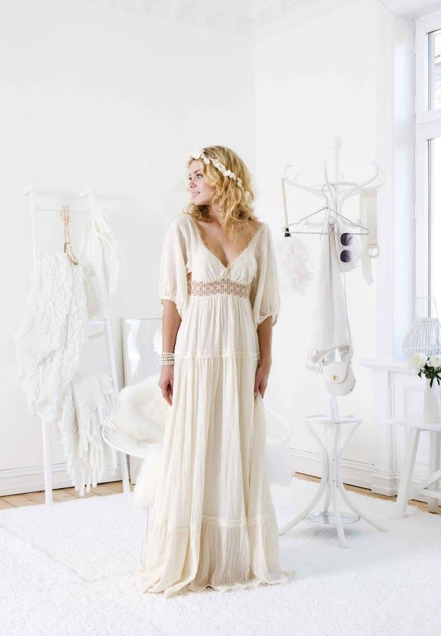 626 best images about here comes the bride on pinterest for Boho country wedding dress