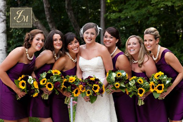 Aileen & Scott's purple & sunflower wedding | Blue Heron Catering | Western MA Wedding Caterers | Quonquont Farm | Jessica Marie Photography