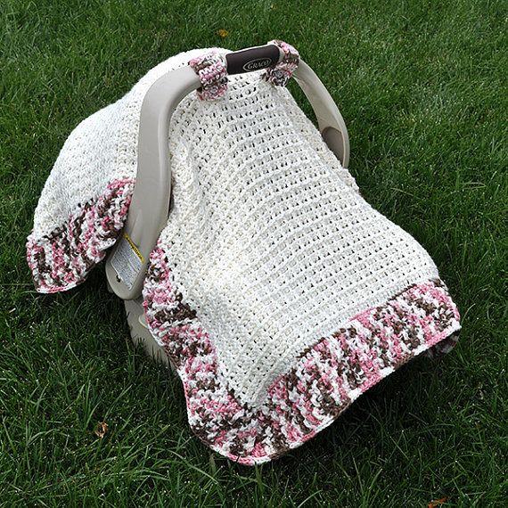 Crochet Pattern 1306 Waffle Stitch Car Seat by HeathersCraftCorner
