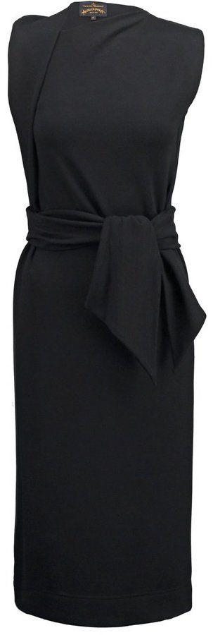 """Vivienne Westwood Anglomania """"RIXON"""" Etuikleid mit schicker Drapierung (380 €)"""
