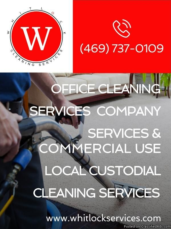 office cleaning services company use local custodial services and  commercial cleaning services (469) 737-0109 www.whitlockservices.com     floor cleaning services, carpet cleaning companies, construction cleaning   cleaning job, office cleaning jobs,