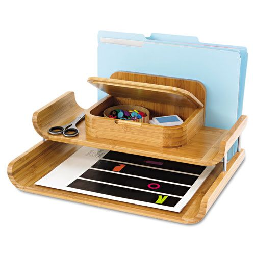 desktop organizer bamboo natural - Desk Organizer Tray