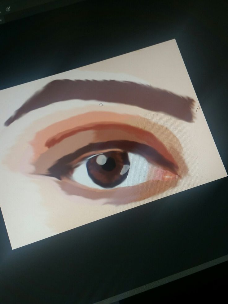 Photoshop drawing; eye