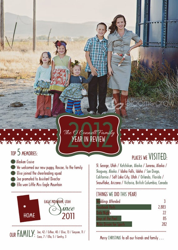Famous 36 best Year in Review Christmas Cards images on Pinterest  ER74
